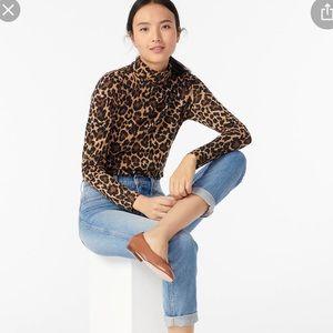 J . Crew leopard 🐆 turtle neck